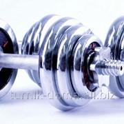 Гантель разборные хромированные 20 кг - 2*10, HB-JIN211A-20 фото