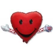 Шар фольгированный Ф Фигура 11 Сердце с ручками FM фото