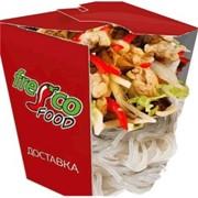 Доставка блюд из лапши - Харусаме с овощами и курицей фото