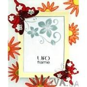 "Фоторамка UFO ""Бабочки и цветы"", 10х15 см фото"
