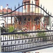 Ворота дизайнерские с ручным управлением №6 фото
