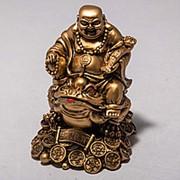 Статуэтка Будда с лягушкой 12 см фото