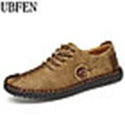 Туфли мужские лоферы UBFEN желтые фото
