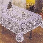 Скатерть ПВХ Embossed 150х230см белая (1/24) фото
