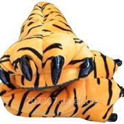 Тапочки тигровые лапки для пижам кигуруми фото