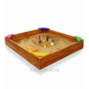 Детская деревянная песочница из сосны фото