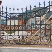 Кованые забор из металла фото