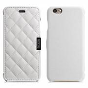 Чехол iCarer для iPhone 6 Microfiber Check White (side-open) фото