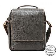 """Кожаная сумка через плечо """"Шерлок"""" (тёмно-коричневая) фото"""