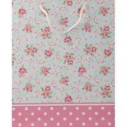 """Пакет подарочный Dream Cards """"Розы и горошек"""", 18х23х10 см.,матовая ламин., ПКП-1266 фото"""