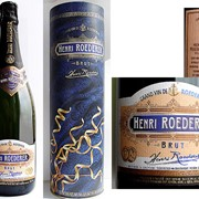 Шампанское ТМ Henri Roederer- дизайн логотипа ТМ, концепт и дизайн этикетки/ кольеретки/ колпачка, концепт и дизайн тубуса. фото