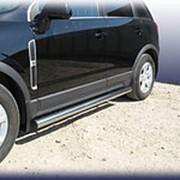 Пороги Opel Antara 2007-2012 (труба 76 мм) фото