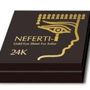 Золотые патчи для глаз Nifertiti, 5 пар, Kanazawa Katani фото