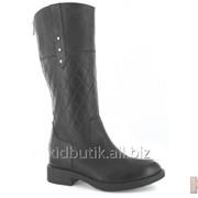 Сапоги зимние черного цвета для девочки Bartek 16-57166 P2 З фото