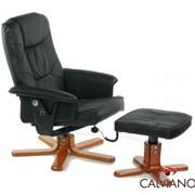 Кресло массаж + пуф массаж TV Calviano (черный) крест фото