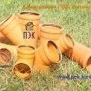 Тройник ПВХ для наружной канализации d=110 мм, 90град. фото