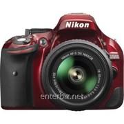 Зеркальная фотокамера Nikon D5200 + 18-55mm VR II Red KIT (VBA351K006) (официальная гарантия), код 127954 фото