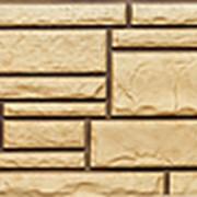 Фасадные панели T-Сайдинг, коллекция «Дикий камень» пустынный, 1090х455 фото