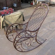 Кресла-качалки кованые фото