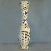 Напольная ваза Нирвана шамот резка фото