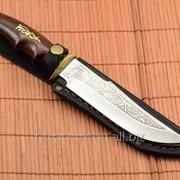 Нож охотничий Медведь сделано в Украине, ручная работа, кожаный чехол и паспорт фото