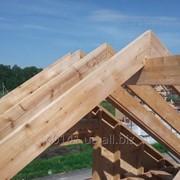 Стропила деревянная на дом, экспорт пиломатериалов фото