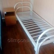 Кровать одноярусная спинка 2 дуги 1900/700 фото