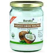 Кокосовое масло Барака Вирджин Organic Bio в стеклянной банке, 460 г./500 мл. фото