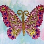 "Набор ВДВ с пайетками и пинсами (мозаика) ''Бабочка"" (Код: ПІН-005) фото"