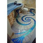 Изготовление авторской мозаики для водопадов, бассейнов, фонтанов и саун фото