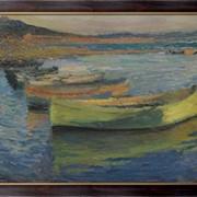 Картина Лодки на окраине Коллиура, 1910, Мартин, Анри Жан Гийом Мартин фото