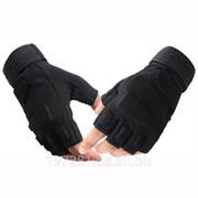 Перчатки тактические беспалые BlackHawk S.O.L.A.G. Half-Finger, Черные фото
