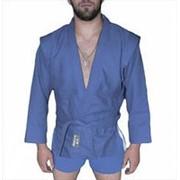 AX5, Куртка для самбо елочка, синяя, Р: 50/175 фото