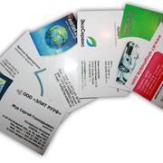 Ламинированные визитки фото