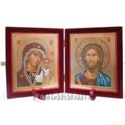 Складень, венчальная пара икон Артикул: СБ-0911к фото