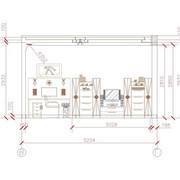 Составление развертки стен с декоративными элементами, Развертка по стенам фото