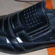 Обувь летняя мужская черная фото