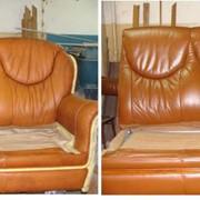 Покраска кожаной мебели фото
