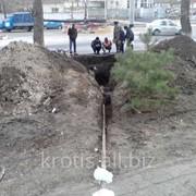 Прокладка водопровода под землей фото
