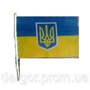 Флаг Украины 60*90 с флагштоком фото