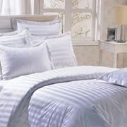 Постельное белье 1,5 сп. для гостиниц, белое фото