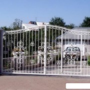 Ворота кованые металлические фото