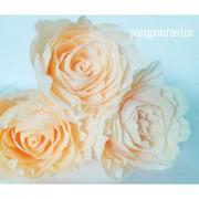 Бумажные цветы на ножке фото