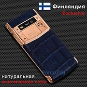 Телефон Vertu Signature Touch Gold Navy Alligator фото