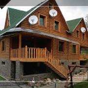 Деревянные дома из оцилиндрованного бревна фото