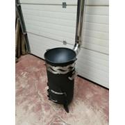 Печь для казана с мангалом, трубой, шампурами и зо фото