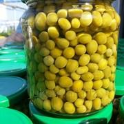 Горошек зеленый консервированный из мозговых сортов высший сорт в стеклобанке 0,45 л. твист фото