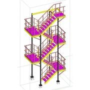 Проектирование металлических лестниц фото