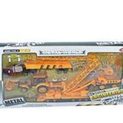 Набор игровой 0302 Стройплощадка с транспортом (металлический), инерционный фото