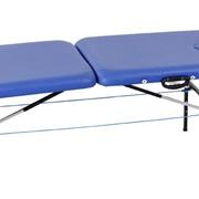 """Металлический переносной массажный стол Titan. Складной массажный стол """"Титан"""". Раскладная кушетка для косметологии и массажа. Металлическая переносная массажная кушетка. Стол для массажа переносной. Чемодан-стол для массажа. фото"""